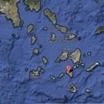 carte de Ios, dans les Cyclades en grèce