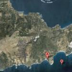 Provatas (Milos), vue du ciel