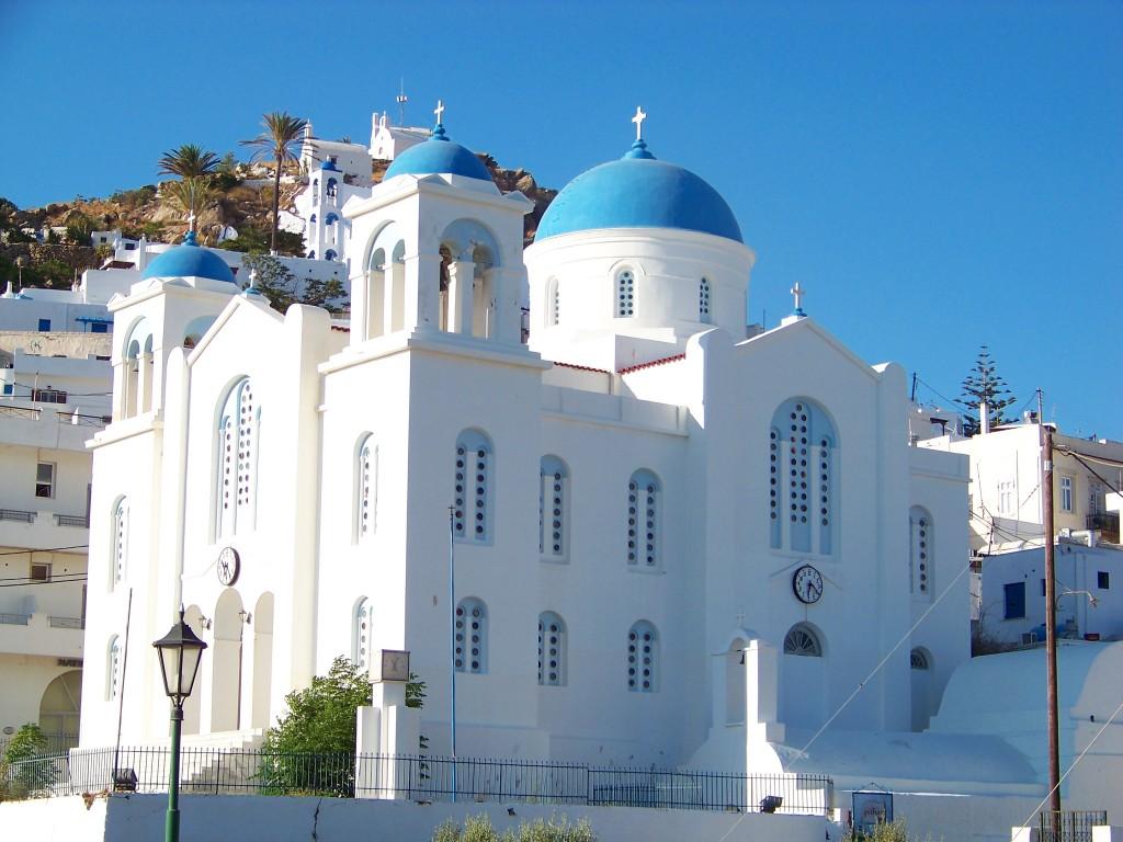 Une église à Chora (Ios, Grèce)