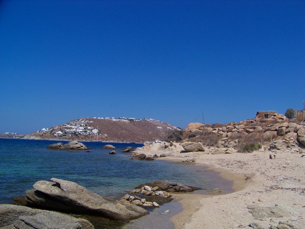 plage déserte à mykonos