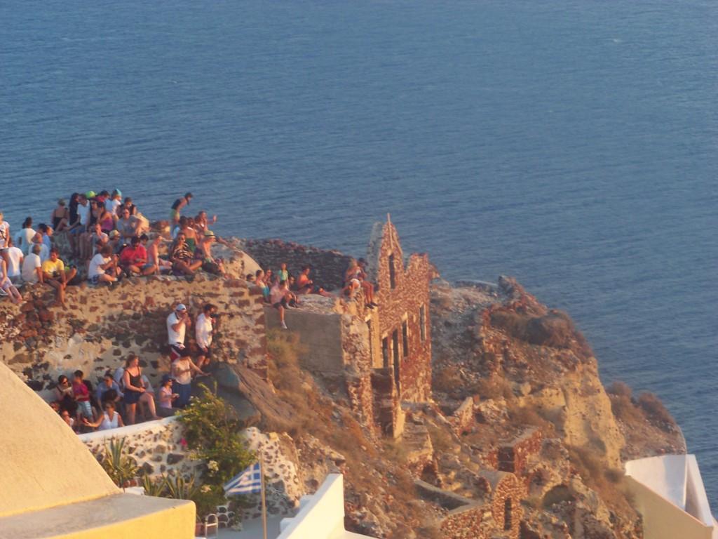 Coucher de soleil à Oia (Santorin)