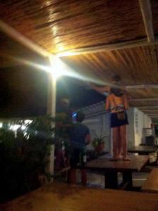 La fête au camping de Mykonos