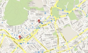 l'hotel Ilissos à Athènes (carte)