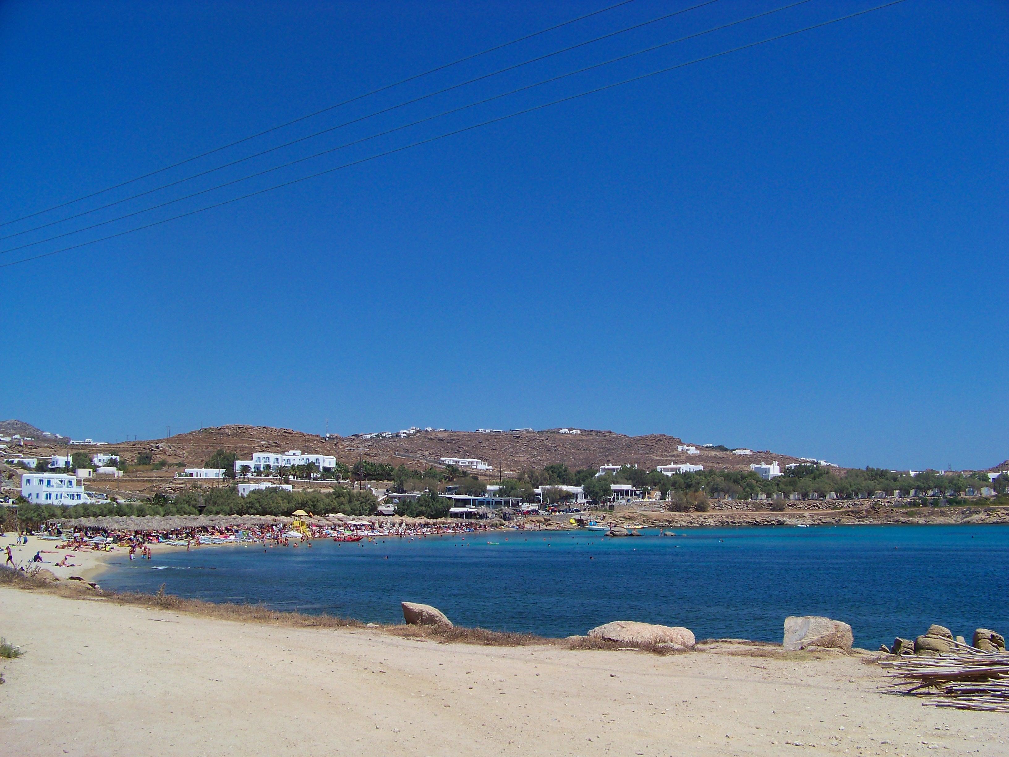 plage paraga à Mykonos