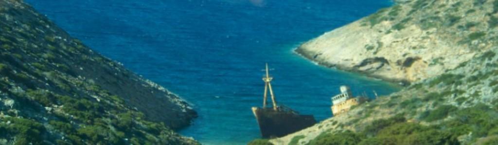 épave du Grand Bleu à Amrogos