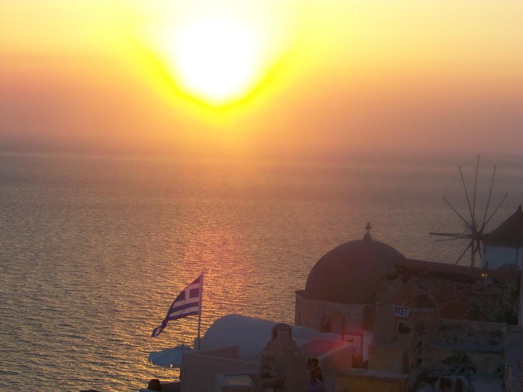 coucher de soleil si prisé de Firostefani