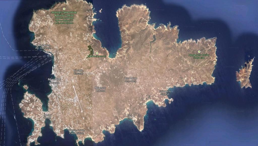 Carte de Mykonos.