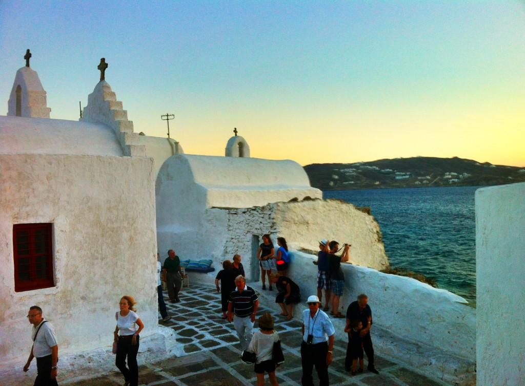 Chora, à Mykonos (Cyclades)